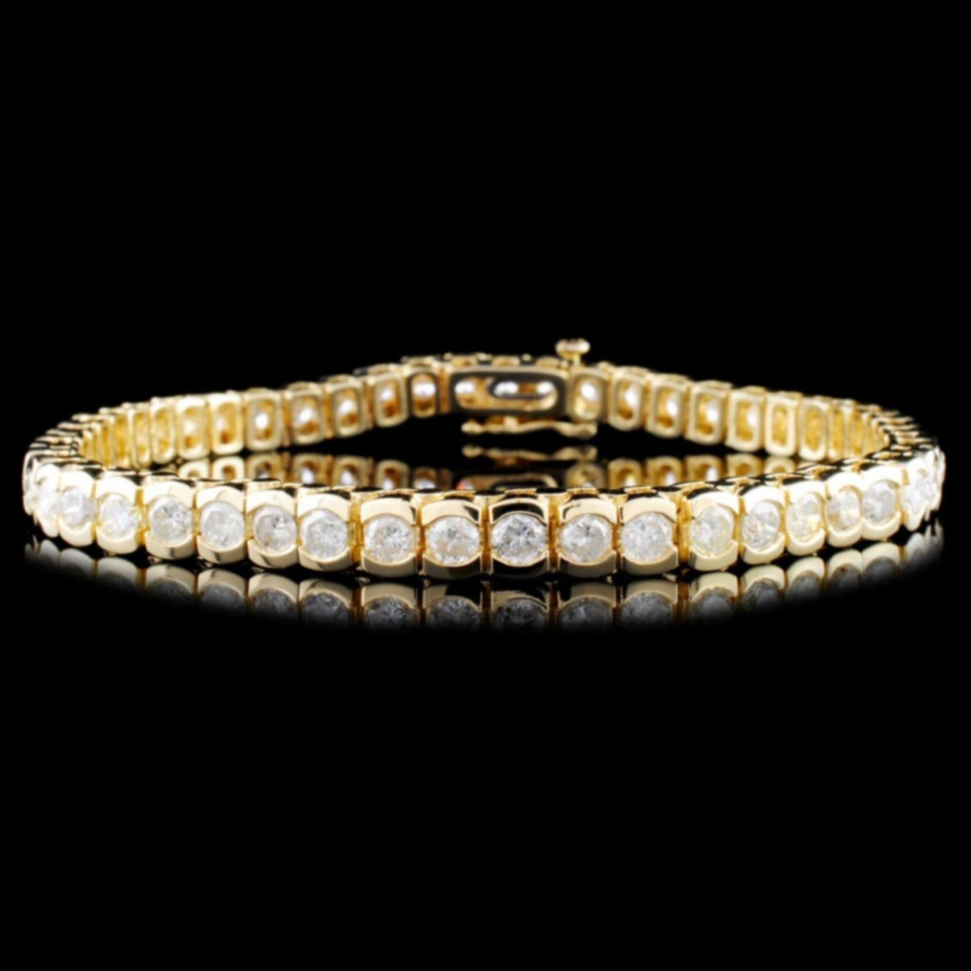14K Gold 8.12ctw Diamond Tennis Bracelet