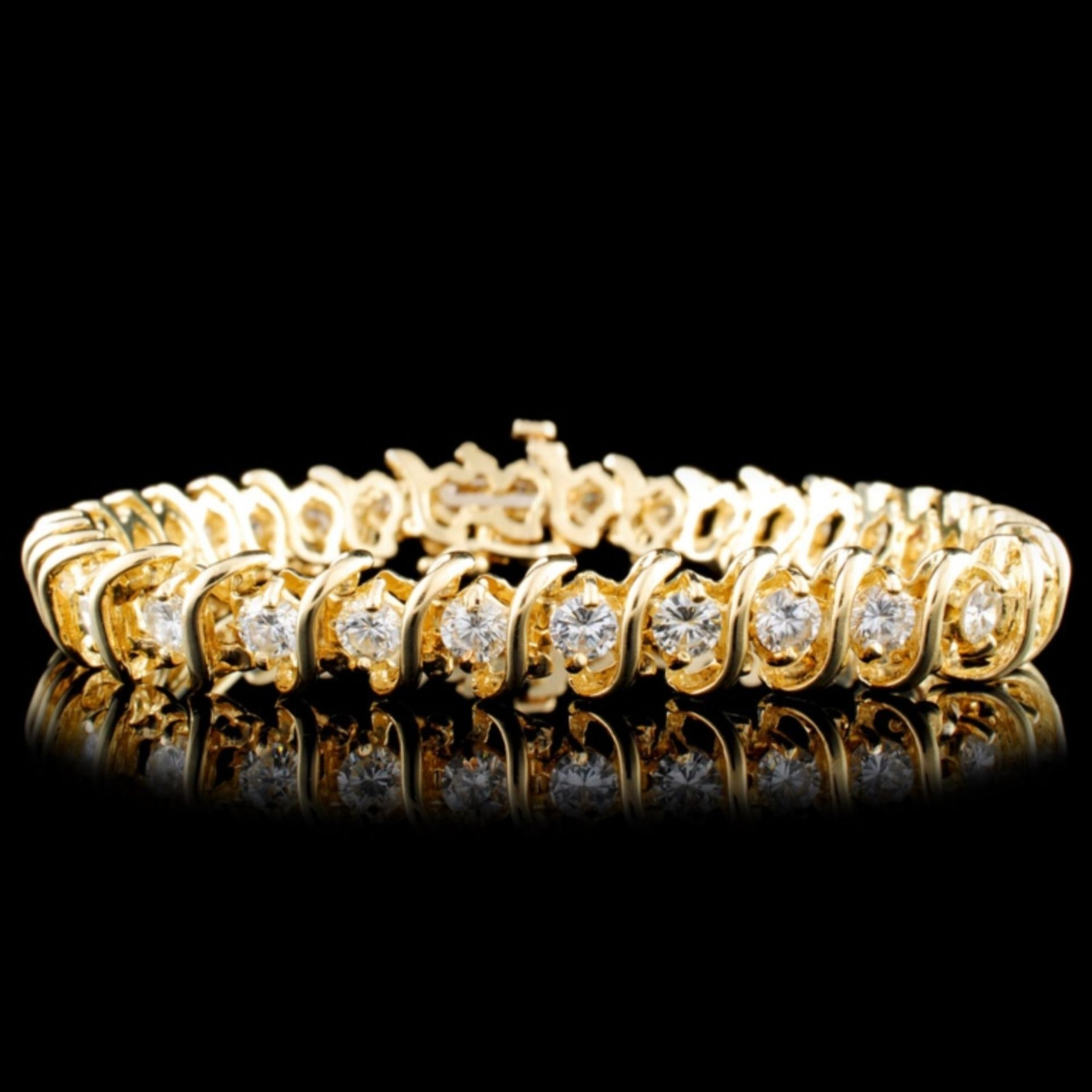 14K Gold 6.00ctw Diamond Bracelet