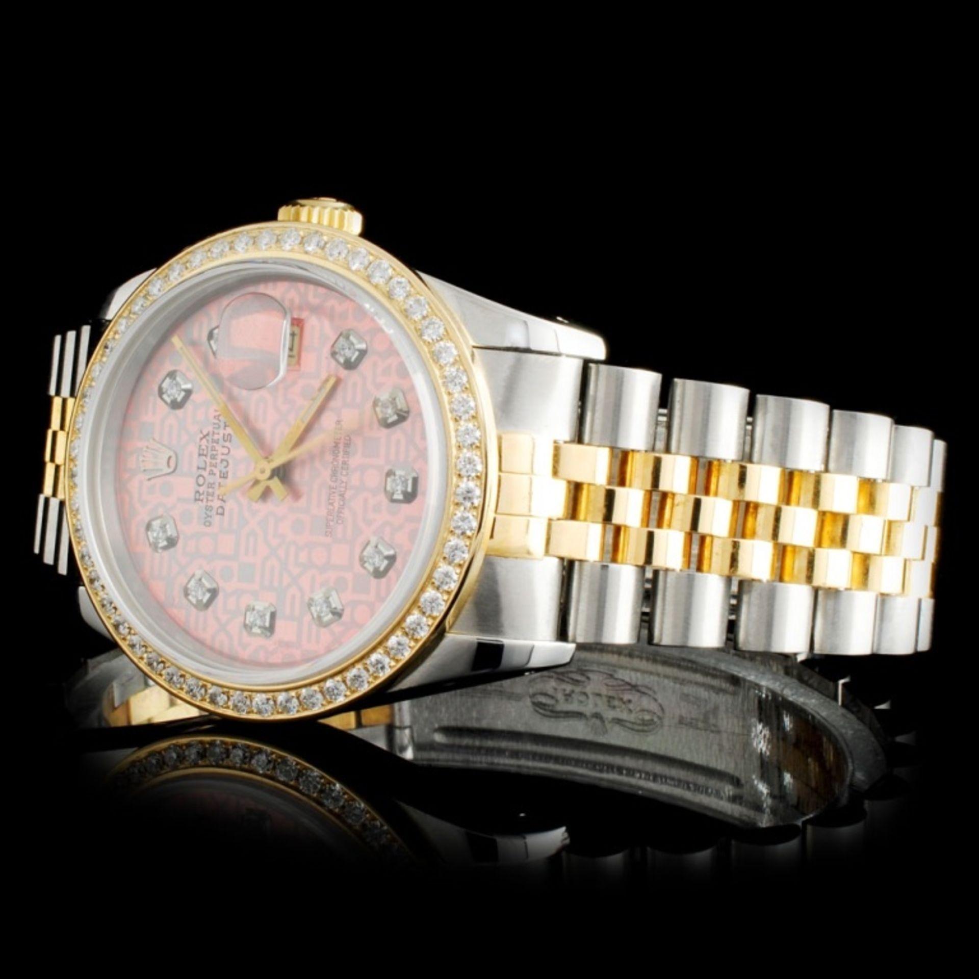 Rolex DateJust Diamond 36mm Wristwatch - Image 2 of 5