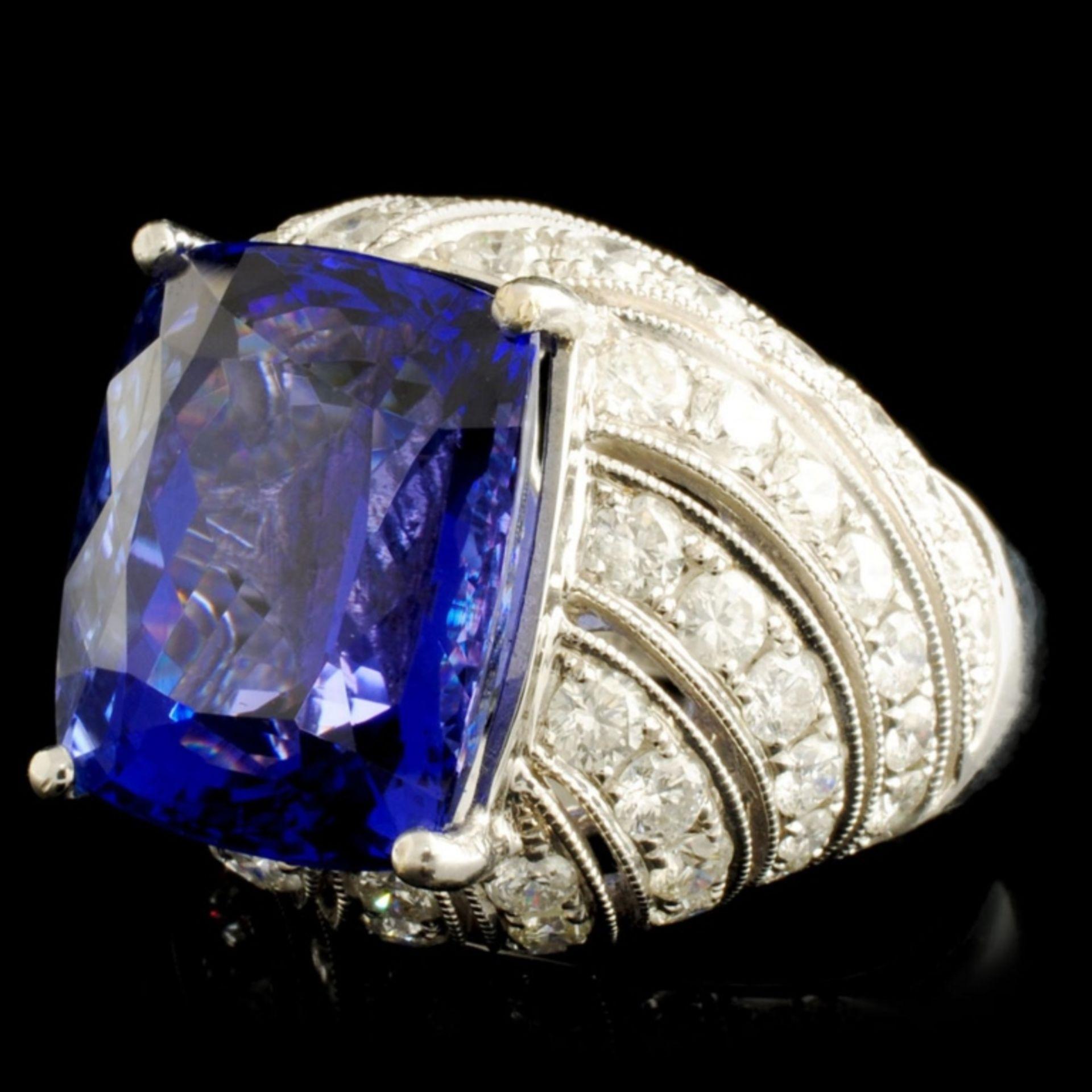 18K Gold 16.72ct Tanzanite & 2.78ctw Diamond Ring - Image 2 of 6
