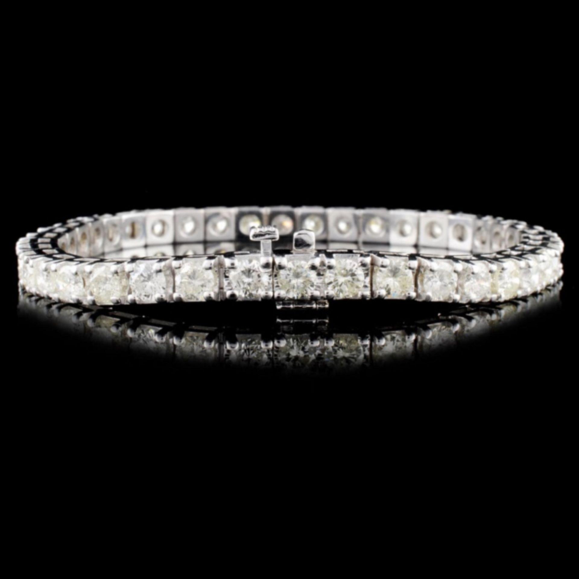 14K Gold 10.00ctw Diamond Bracelet - Image 2 of 3
