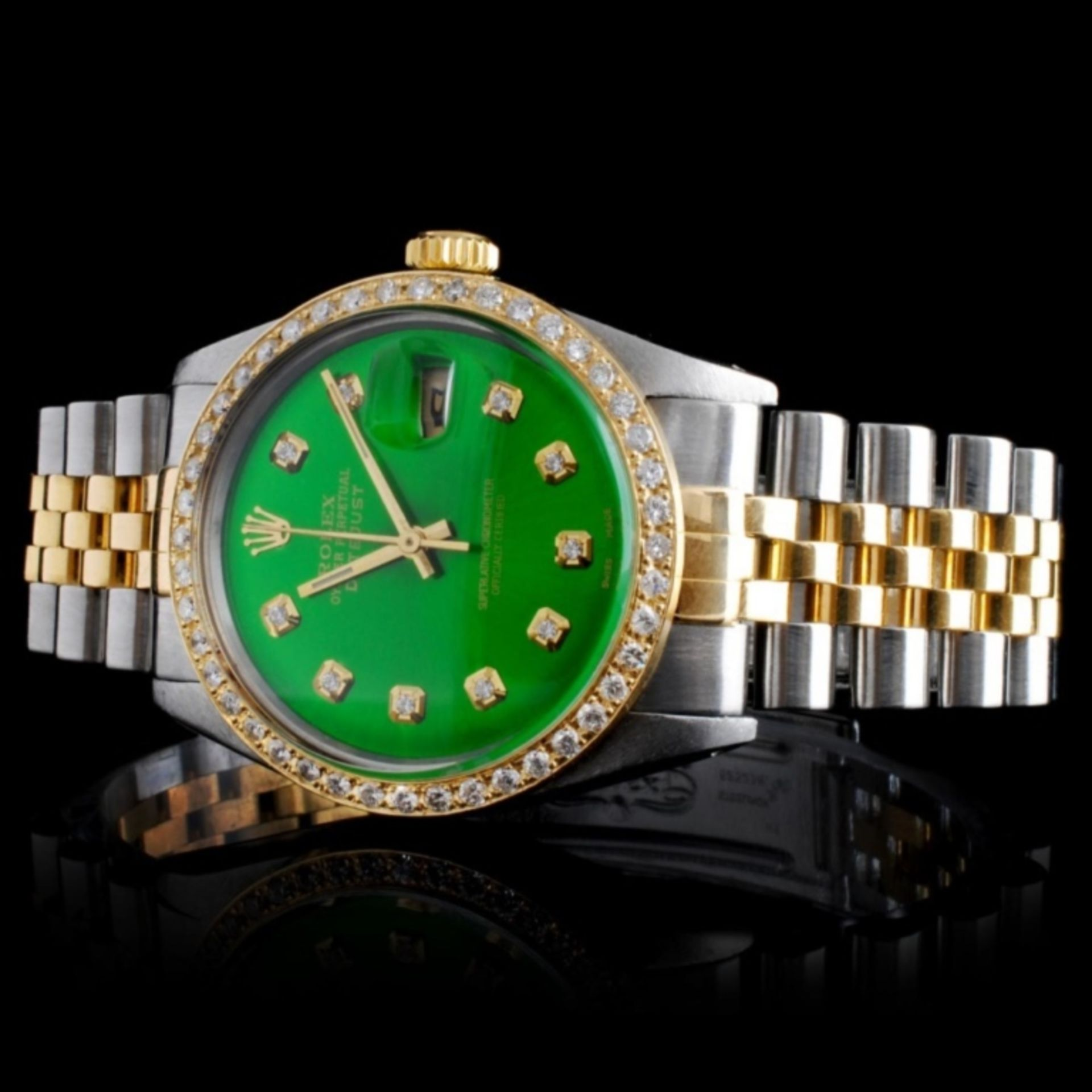 Rolex YG/SS DateJust Diamond 36MM Watch - Image 2 of 6