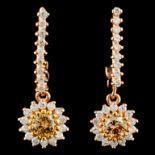 14K Gold 0.71ctw Diamond Earrings