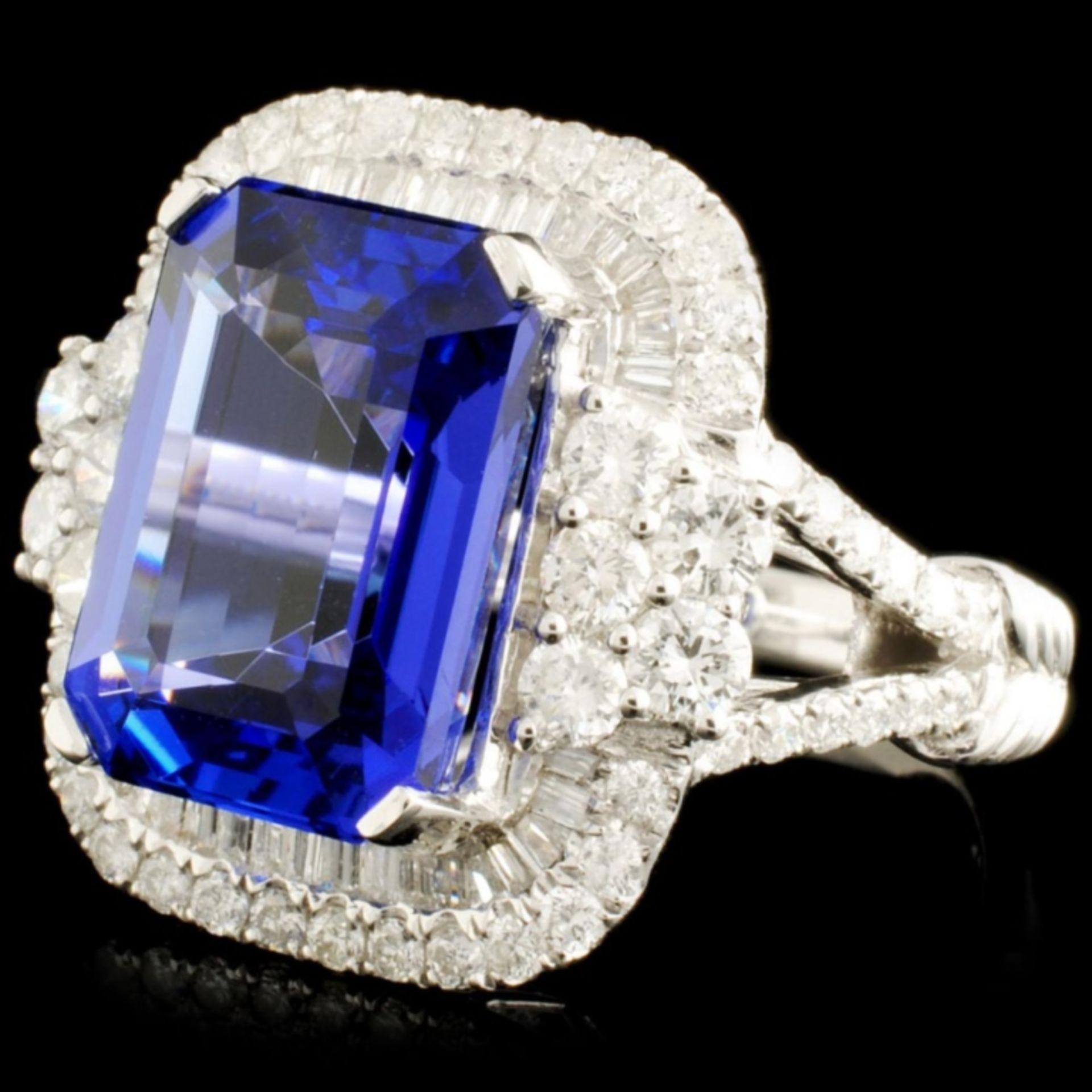 18K Gold 8.12ct Tanzanite & 1.58ctw Diamond Ring - Image 2 of 5