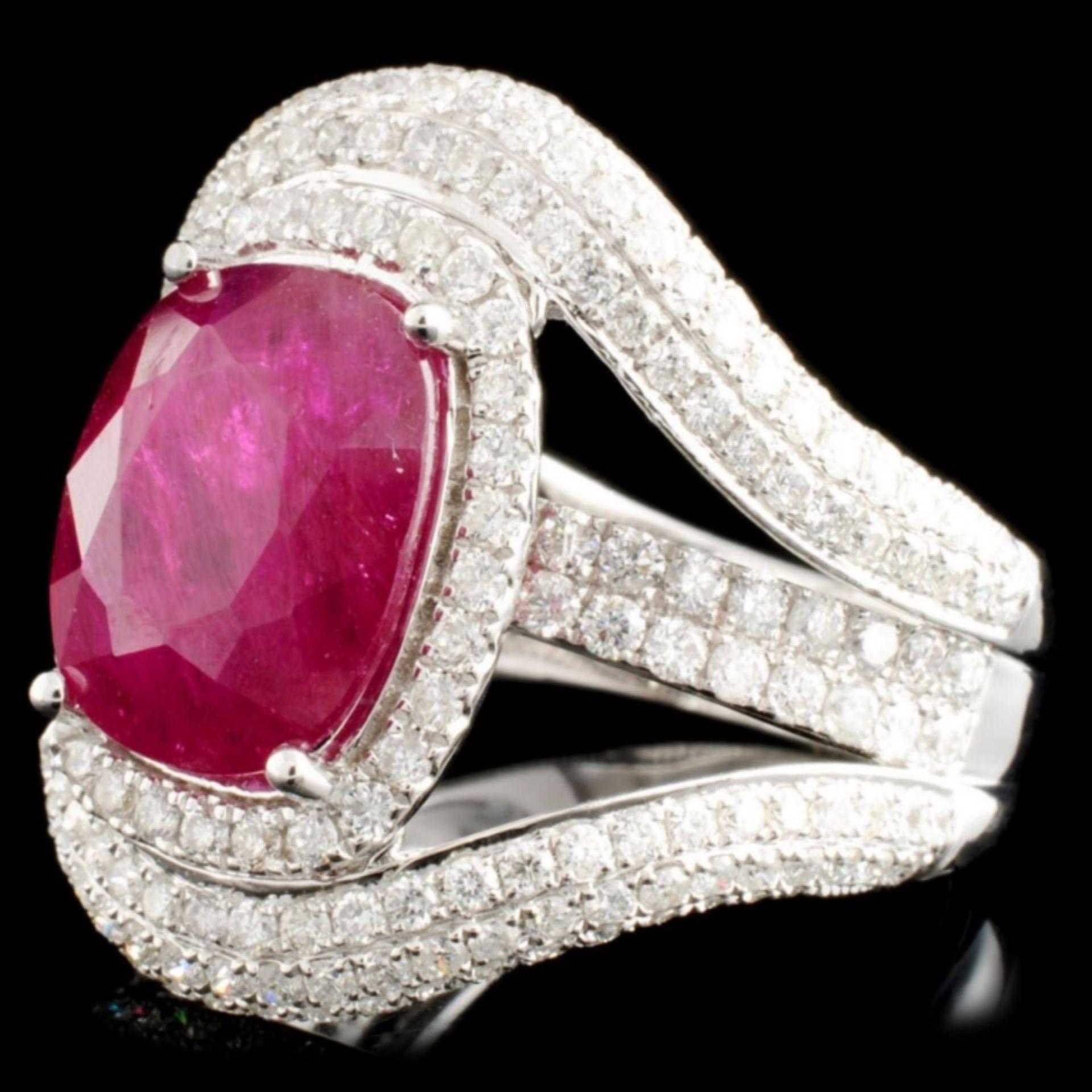 18K Gold 5.17ct Ruby & 1.95ctw Diamond Ring - Image 2 of 5