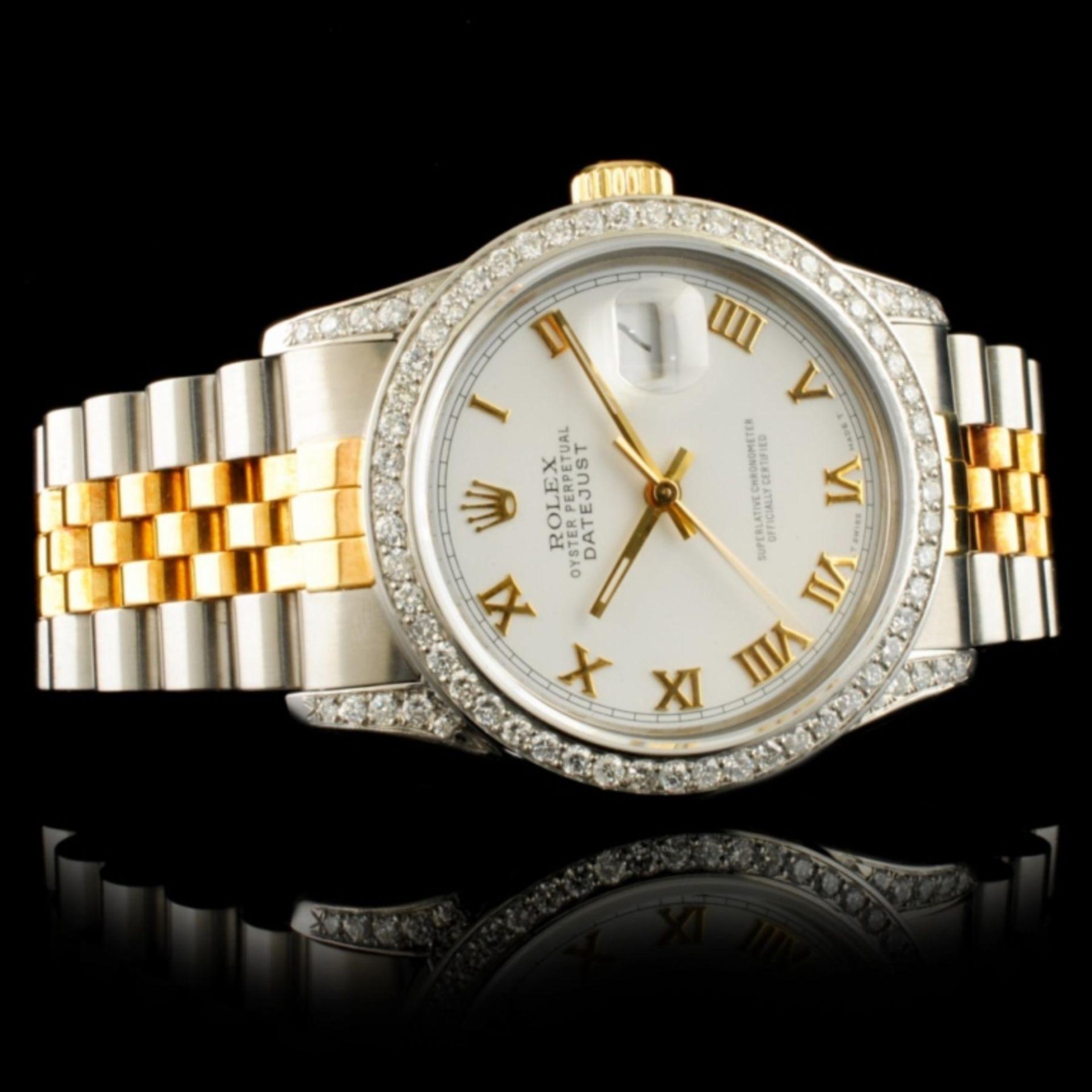 Rolex DateJust 1.50ctw Diamond 36MM Wristwatch - Image 3 of 5