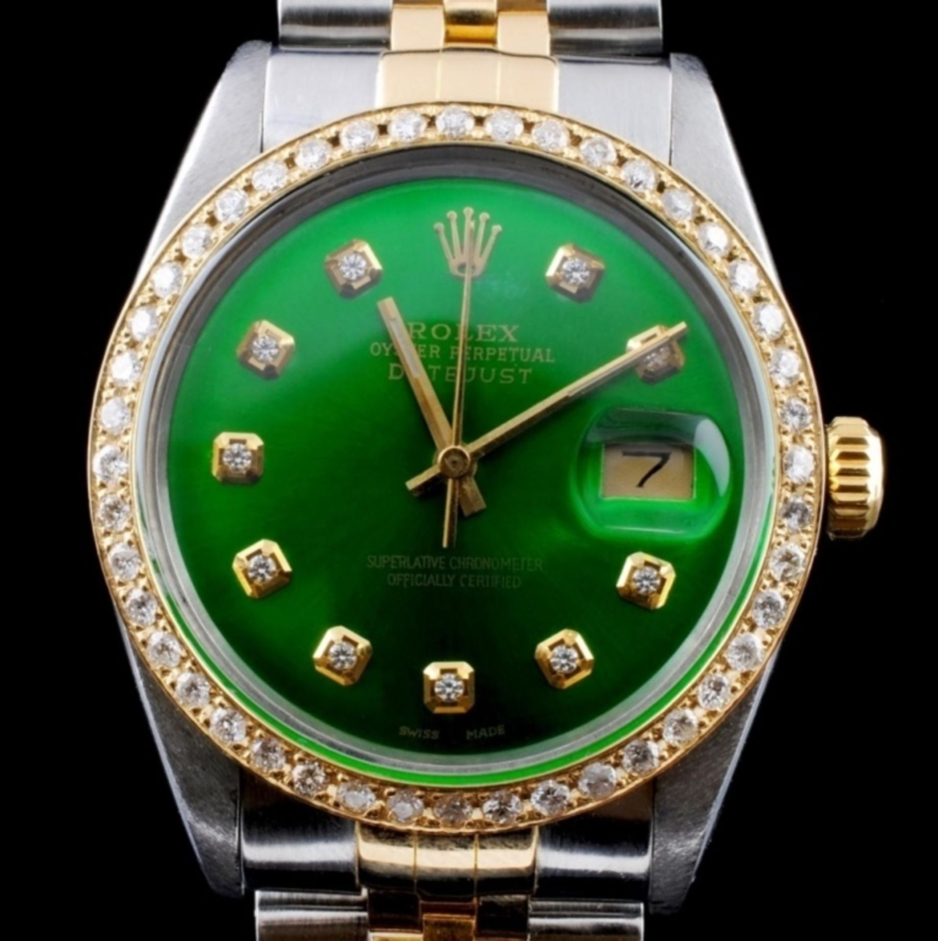 Rolex YG/SS DateJust Diamond 36MM Watch - Image 3 of 6