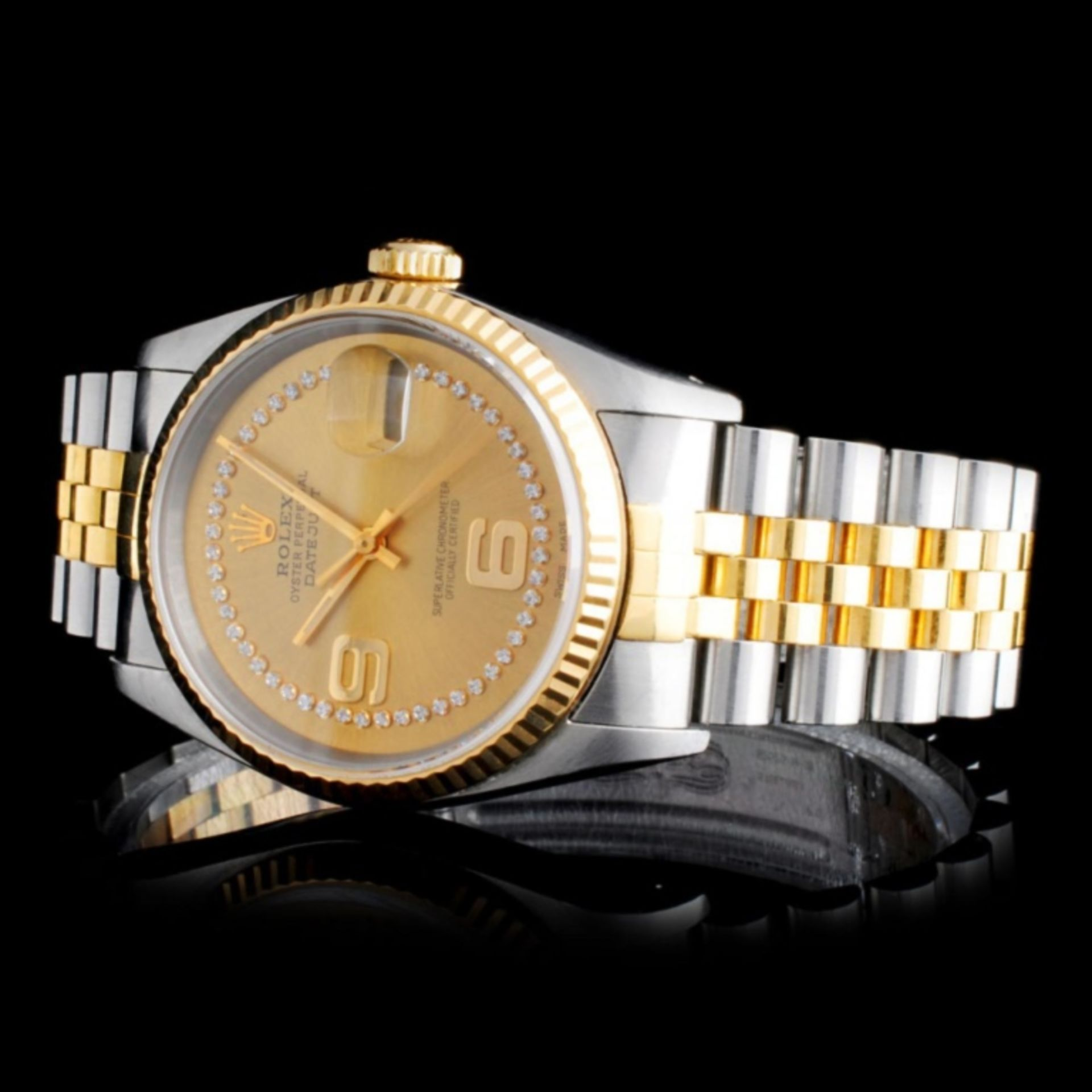 Rolex YG/SS DateJust Diamond 36MM Watch - Image 2 of 5