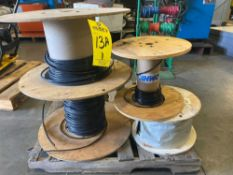 ASSORTED CABLE, STEEL CABLE SPOOL