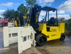 """HYSTER S120XLS LP FORKLIFT, 12,000 LB CAPACITY, 108.5"""" HEIGHT CAPACITY, ROTATING CLAMP ATTACHMENT (R"""