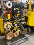ROLLING WIRE RACK WITH ASSORTED SPOOLS
