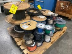 ASSORTED SPOOLS OF CABLE/WIRE