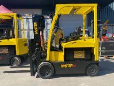 2014 HYSTERE80XNELECTRIC FORKLIFT, 8,000 LB CAPACITY, TILT, SIDE SHIFT, 36V