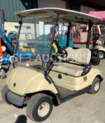 YAMAHA ELECTRIC GOLF CART, 2 SEATER WITH CHARGER RUNS AND OPERATES