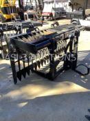 "UNUSED SKID STEER GRAPPLE ATTACHMENT 75"" LONG"