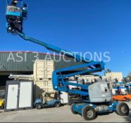 GENIE Z-45/25 DUAL FUEL ARTICULATING BOOM LIFT, FOAM FILLED TIRES, EXTRA WEIGHT UNDERNEATH, 45