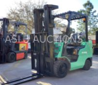 MITSUBISHI LP FORKLIFT MODEL FGC28N APPROX MAX FORK HIGHT 185' & APPROX MAX CAPACITY 5200 (5287)