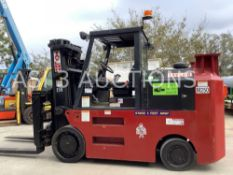 """TAYLOR """"BIG RED"""" DIESEL FORKLIFT MODEL TC250, FACTORY RECONDITIONED IN 2014"""