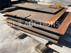 LARGE QUANTITY OF HEAVY STEEL ROAD PLATES