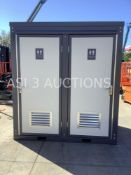 UNUSED PORTABLE MALE/FEMALE TOILETS, EXTERIOR PLUMBING CONNECTIONS, 110V/220V, EXHAUST FAN, LIGHTS