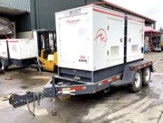 2012 TRAILER MOUNTED DIESEL MAGNUM 185 GENERATOR MODEL 431PSL6306,PHASE 3 ,CONTINUOUS DUTY VOLTS 480