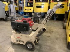 GAS POWER EDCO TURBO GRINDER MODEL TG10-11H RUNS WITH HONDA MOTOR AND OPERATES