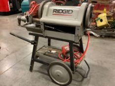 2018 ELECTRIC RIDGID PIPE THREADER MODEL 1224 WITH STAND, APPROX 120 VOLTS,APPROX AMP 15,APPROX HZ 6
