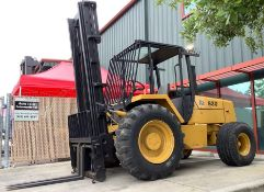 JCB ROUGH TERRAIN FORKLIFT MODEL 930, DIESEL, APPROX MAX CAPACITY 6000LBS ,APPROX HIGH CAPACITY 28FT