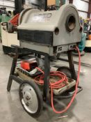 2013 ELECTRIC RIDGID PIPE THREADER MODEL 1224 WITH STAND, APPROX 120 VOLTS,APPROX AMP 15,APPROX HZ 6