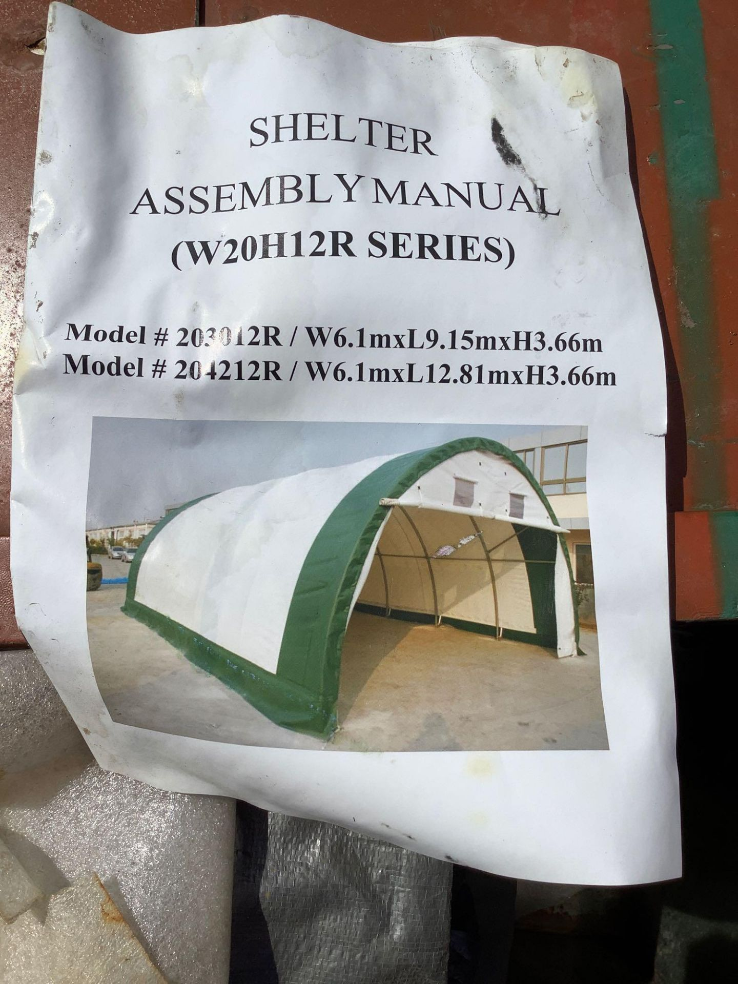 GOLD MOUNTAIN BUILDING TENT , APPROX 30 FT x 20 FT x 12 FT - Image 7 of 7