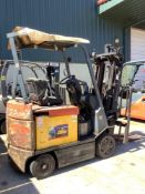 ELECTRIC TOYOTA FORKLIFT MODEL 7FBCU25, SIDE SHIFT,APPROX 4400LBS ,APPROX HIGHT CAPACITY 189IN CONDI