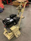 GAS POWER WALK BEHIND EDCO CPM-8-9H SCARIFIER CRETE PLANE WITH HONDA MOTOR