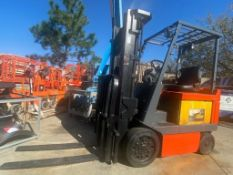"""TOYOTA ELECTRIC FORKLIFT MODEL 5FBCU25, 36V, 5,000 LB CAPACITY, 189"""" HEIGHT CAPACITY, 3,028.9 HOURS"""
