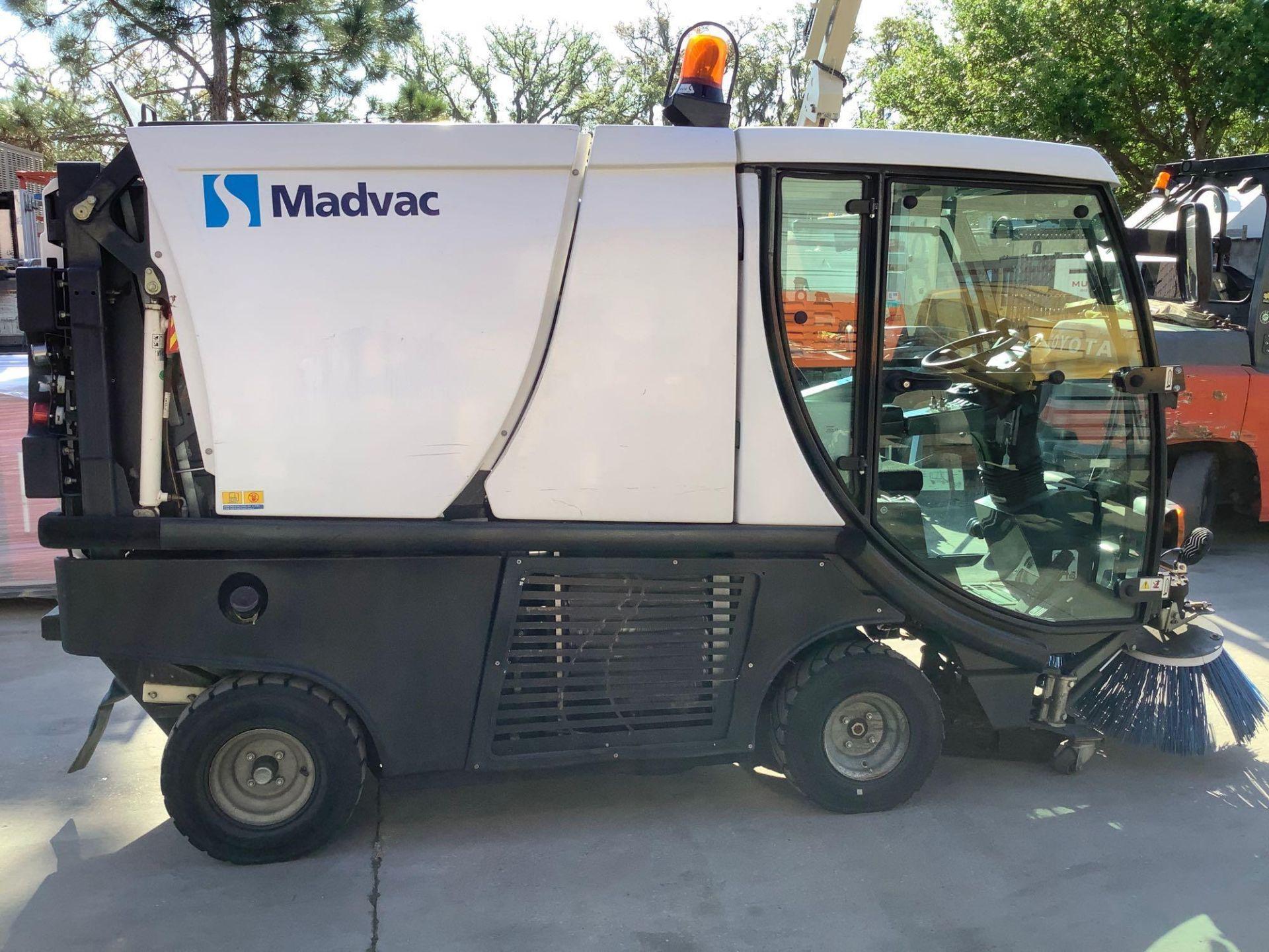 MADVAC COMPACT SWEEPER MODEL LS100 ,ENCLOSED CAB,BACK UP CAMERA, A/C AIR, EXTRA KEY - Image 7 of 15