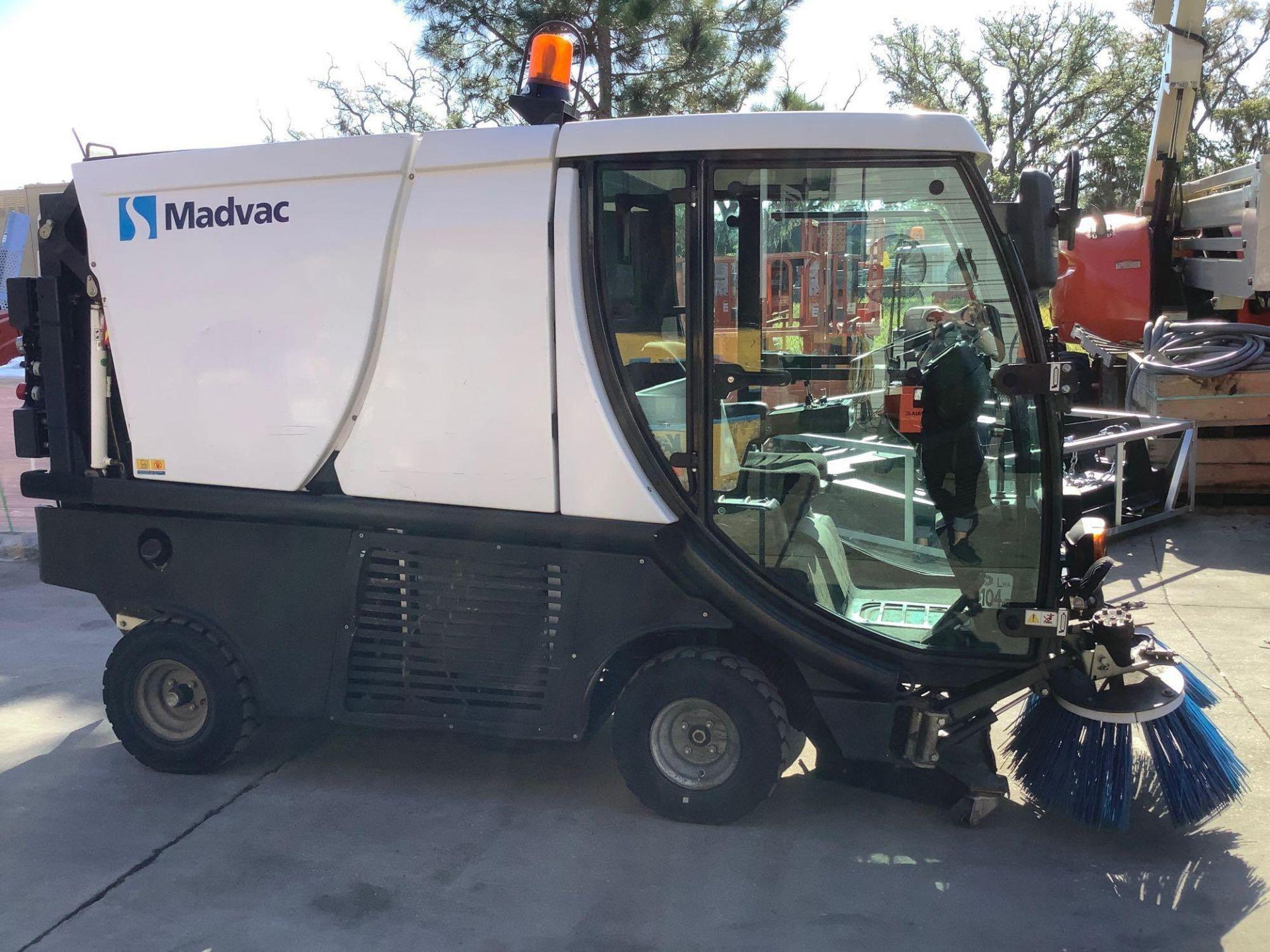 MADVAC COMPACT SWEEPER MODEL LS100 ,ENCLOSED CAB,BACK UP CAMERA, A/C AIR, EXTRA KEY - Image 4 of 15