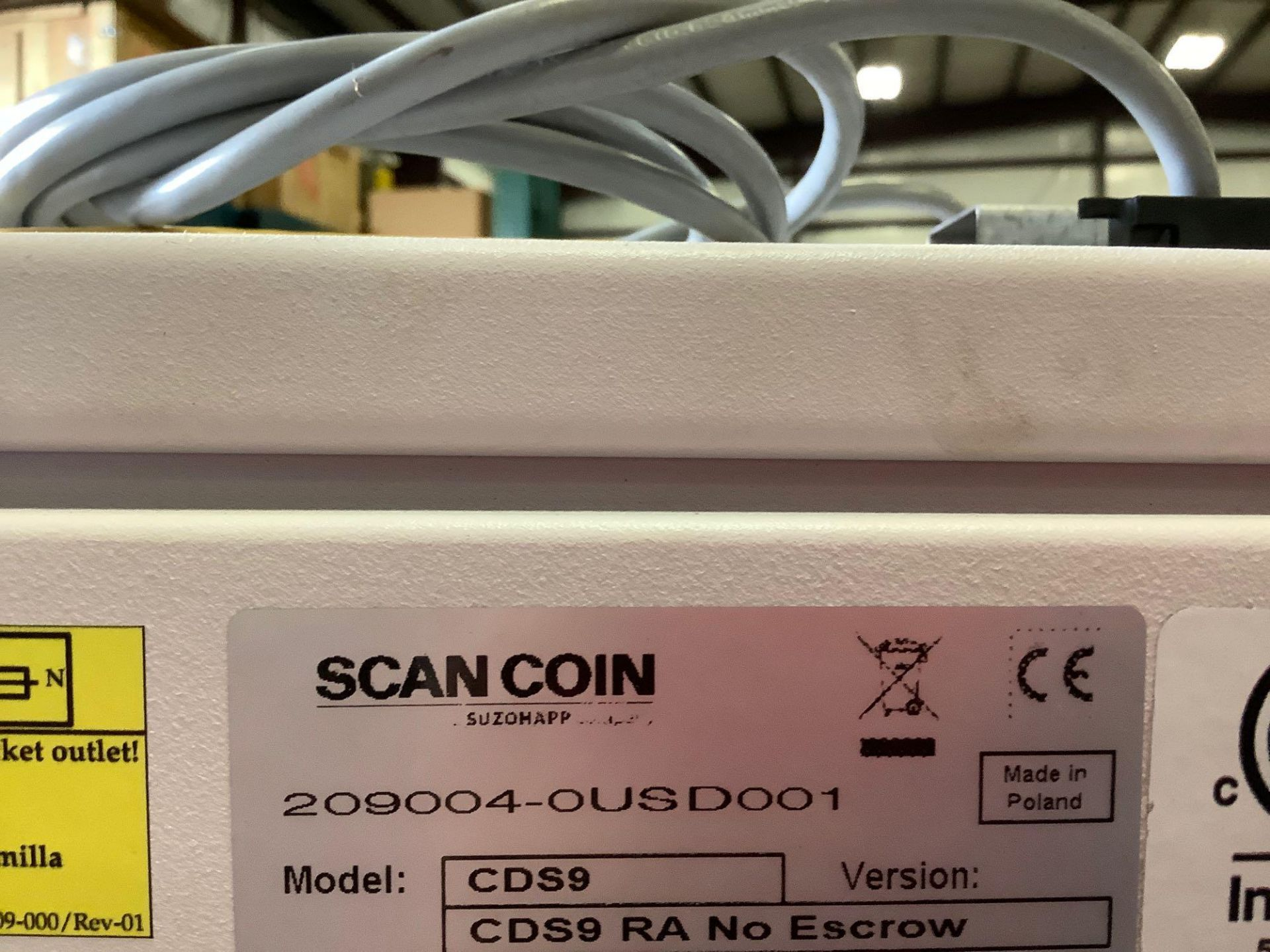 SCAN COIN MACHINE MODEL CDS9, APPROX AMP 4.0-2.0 A, APPROX VAC 90-240, APPROX HZ 60 - Image 12 of 12