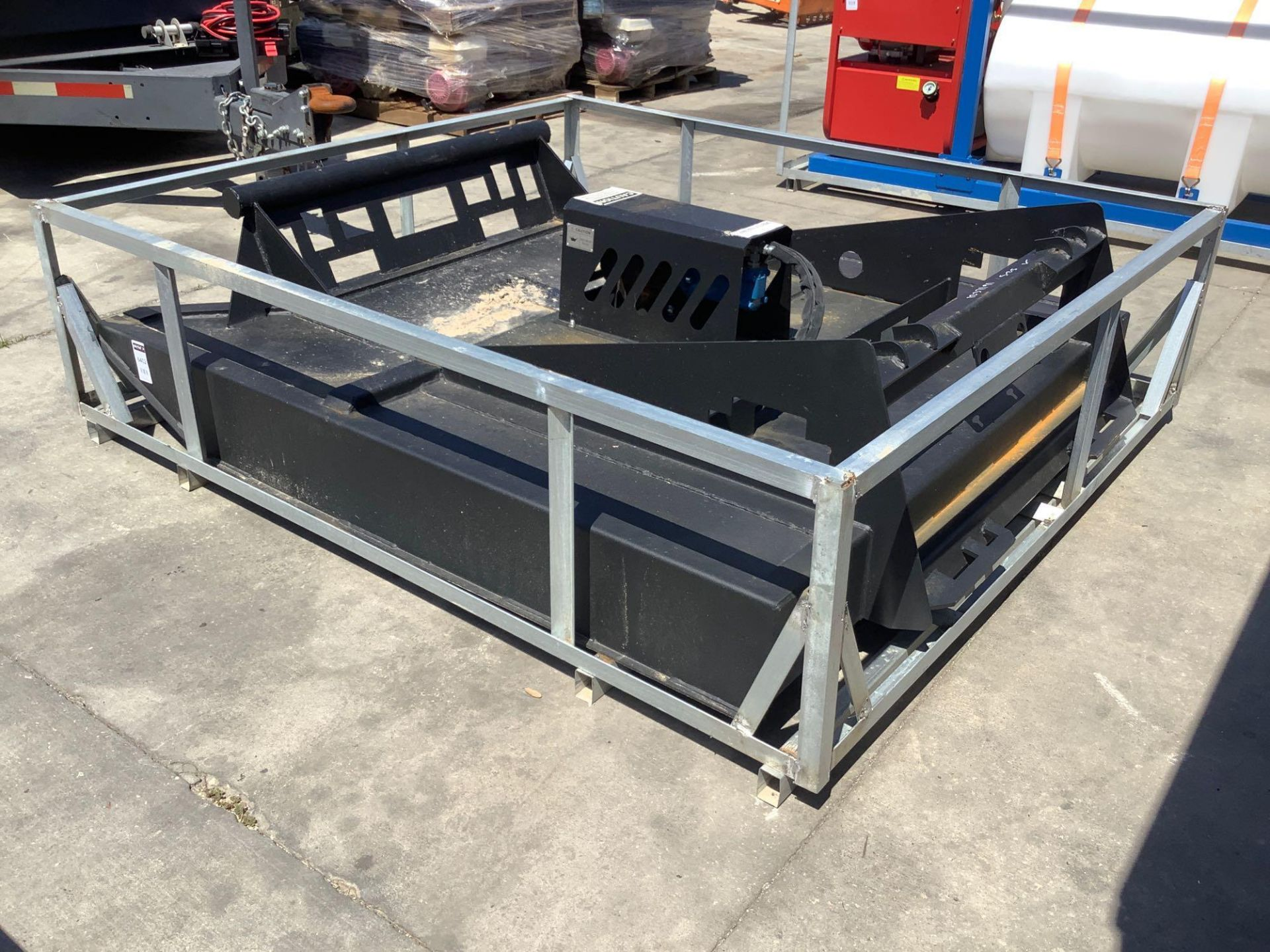 UNUSED BRUSH CUTTER ATTACHMENT FOR SKID STEER APPROX 77IN LONG x 70IN WIDE - Image 2 of 5