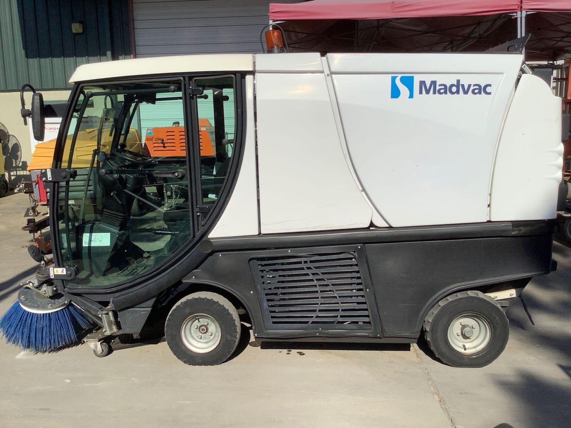 MADVAC COMPACT SWEEPER MODEL LS100 ,ENCLOSED CAB,BACK UP CAMERA, A/C AIR, EXTRA KEY - Image 2 of 15