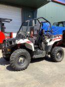 2014 POLARIS SPORTSMAN ACE WHITE LIGHTNING ATV MODEL A14BH33AJ , GAS POWERED, 4WD, RUNS AND OPERATES