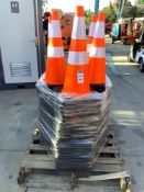 PALLET OF 100 SAFETY CONES