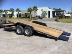 """UNUSED 2021 DELTA ROLLBACK TRAILER, APPROX GVWR 14000LBS, APPROX 20FT LONG x 82"""" WIDE, ELECTRIC BRAK"""
