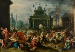 Attributed To Frans Francken The Younger (Signed to the lower right corner 'Frans...F[Ecit]'),