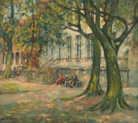 Verbrugghe Ch., 'Jardin Gruuthuse … Bruges', oil on board, 54 x 60 cm, Is possibly subject of the SA