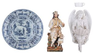 A collection of various European ceramic items, H 3,5 - 33 cm