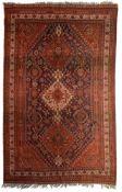 A Qashqai rug, 1960, wool on wool, 193 x 303 cm