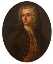 Circle of Joseph Highmore, the portrait of a nobleman, 18thC, 62 x 75 cm