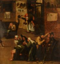 Workshop of Frans Verbeeck I or II, praise of folly, early 17thC, oil on canvas, 106 x 115 cm