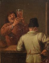 Adriaen Brouwer (after) (1605/06 - 1638), The drinker in the inn, 13 x 17 cm