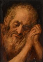 After (or circle of) Frans Floris de Vriendt (ca. 1516-1570), study of a bearded saint, 32 x 45 cm