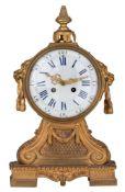 A fine Neoclassical mantle clock, marked 'Aubion à Paris', H 41 - W 24 cm